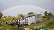 Regnbuen sett fra kortribunen